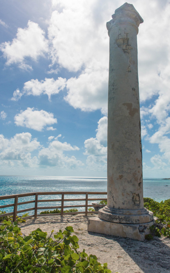The Salt Beacon in Little Exuma