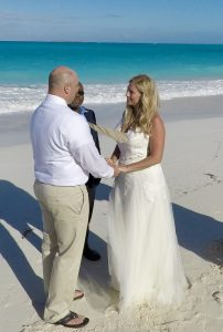 beach wedding in Exuma